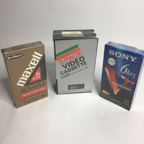 New & Sealed VHS bundle pack of 2 cases & 2 tapes